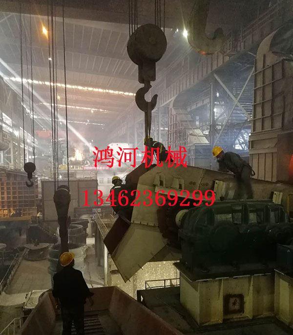 广青集团电炉废钢预热连续加料设备现场安装